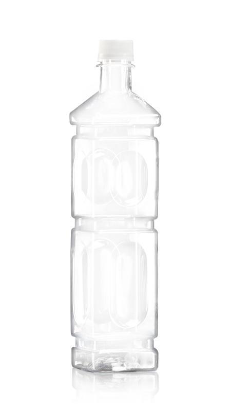 PET-Flaschen der 28-mm-Serie (W704) - 700 ml quadratische PET-Zuckerrohrsaftflasche mit Zertifizierung FSSC, HACCP, ISO22000, IMS, BV