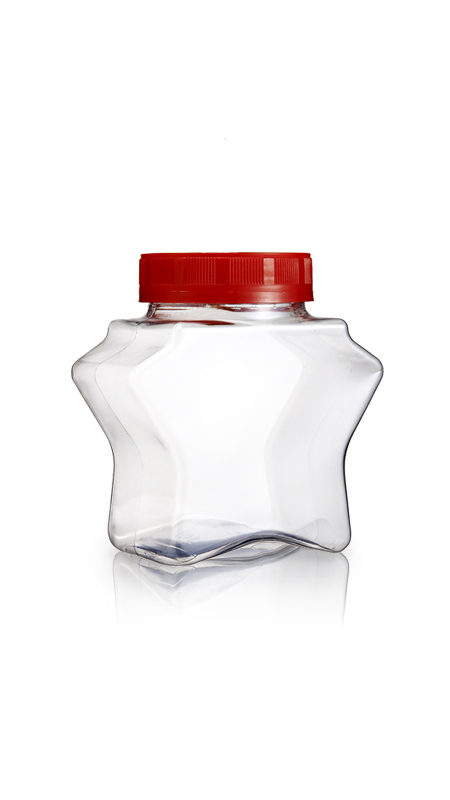 PET 63mm Series Wide Mouth Jar (B405) - 390 ml PET Star Shape Jar with Certification FSSC, HACCP, ISO22000, IMS, BV