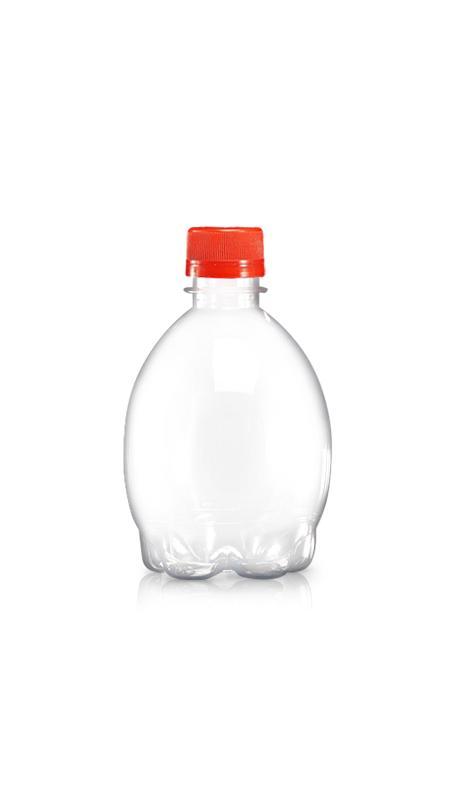 PET-Flaschen der 28-mm-Serie (W330) - 400 ml PET-Zitronensaftflasche mit Zertifizierung FSSC, HACCP, ISO22000, IMS, BV