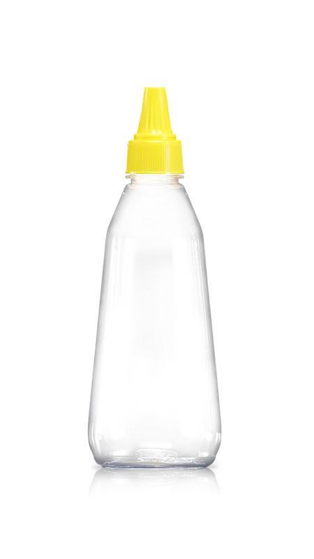Sticle PET 28mm (W351) - Sticlă de miere PET de 350 ml cu certificare FSSC, HACCP, ISO22000, IMS, BV