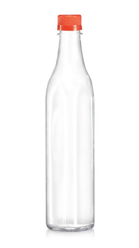 PET 28mm Series Bottles (W503) - 500 ml PET Triangle Water Bottle with Certification FSSC, HACCP, ISO22000, IMS, BV
