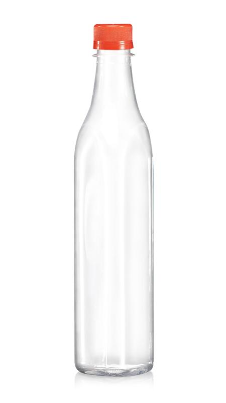 PET-Flaschen der 28-mm-Serie (W503) - 500 ml PET-Dreieck-Wasserflasche mit Zertifizierung FSSC, HACCP, ISO22000, IMS, BV