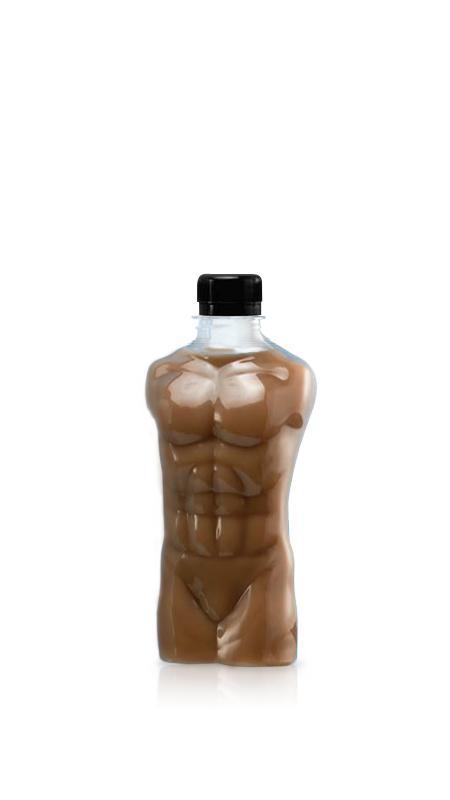 PET-Flaschen der 28-mm-Serie (MM350) - 350 ml Muscle Man Style PET-Flasche für kühle Getränkeverpackungen mit Zertifizierung FSSC, HACCP, ISO22000, IMS, BV