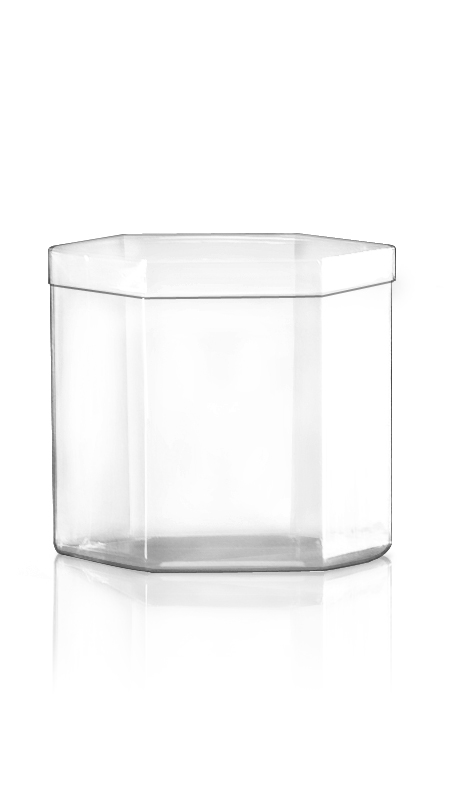 The S Series PET Container S6 - 1000 ml S Series PET Hexagonal Jar