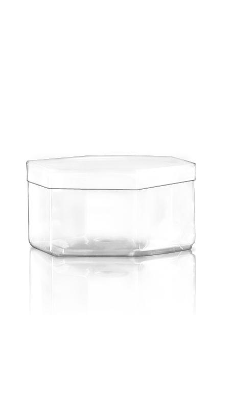 Containerul PET din seria S S12 - Borcan hexagonal PET seria 550 ml