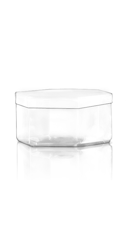 The S Series PET Container S12 - 550 ml S Series PET Hexagonal Jar