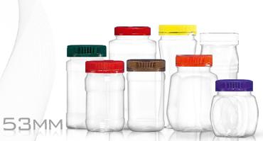 53mm口徑塑膠罐