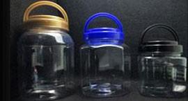 Visão geral do frasco de plástico