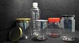 Visão geral do recipiente de plástico