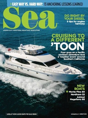 Monte Fino 80 is the cover story of Sea Magazine, America's Western Boating Magazine