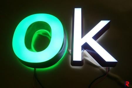 Acrylic luminous words