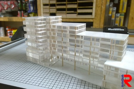 The acrylic architecture model.