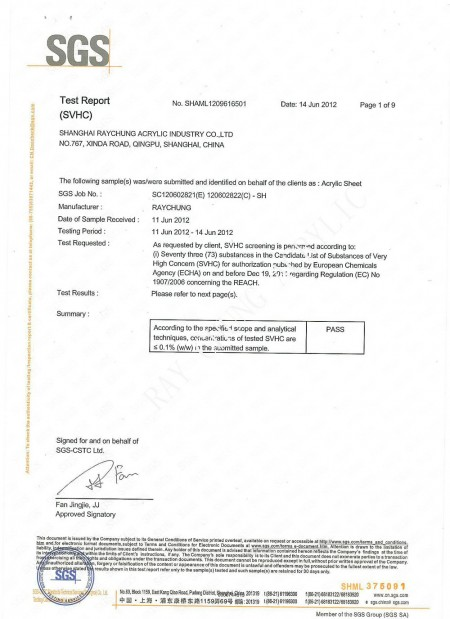REACH TEST REPORT Page 1