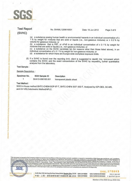 REACH TEST REPORT Page 3