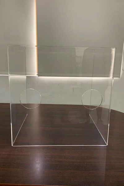 Aerosol box, Acrylic desktop partition panel.