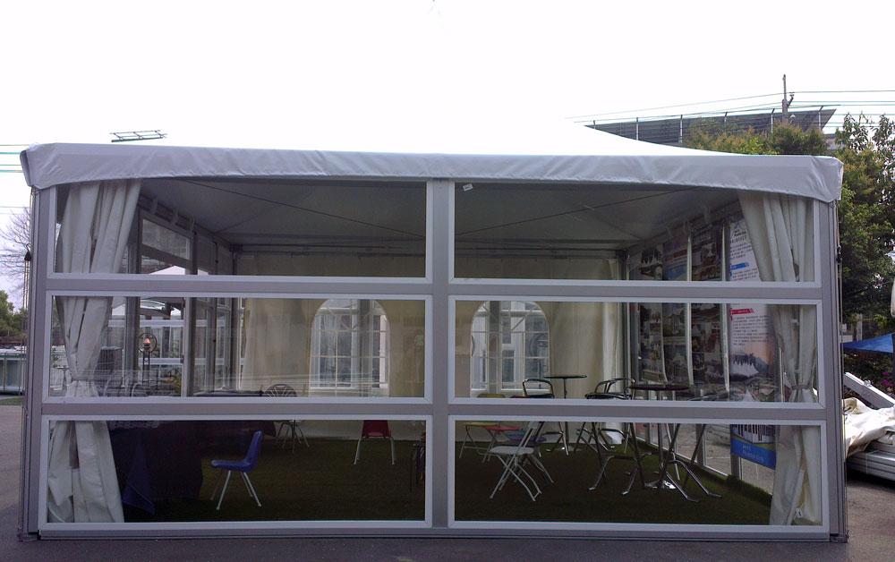 6M x 6M क्षैतिज ग्लास दीवार तम्बू