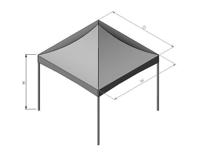 Aluminum Cross Cable Tent