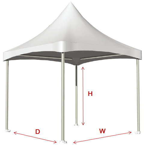 Aluminum Cross Cable Tent - Cross Cable Tent spec.
