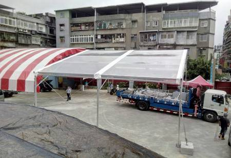 15MX10M-Red and Transparent tent-Groundbreaking ceremony