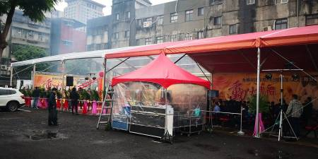 15MX30M-Red and Transparent tent-Groundbreaking ceremony