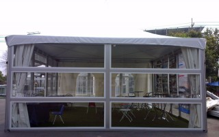 Carpa de pared de vidrio horizontal de 6M x 6M
