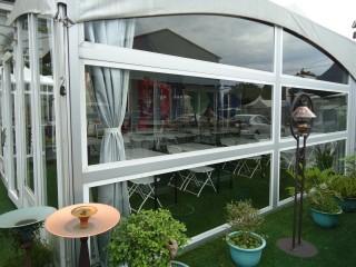 Carpa de pared de vidrio horizontal de 6M x 12M