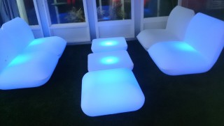 L-S3011 LED Leisure Sofa With Back