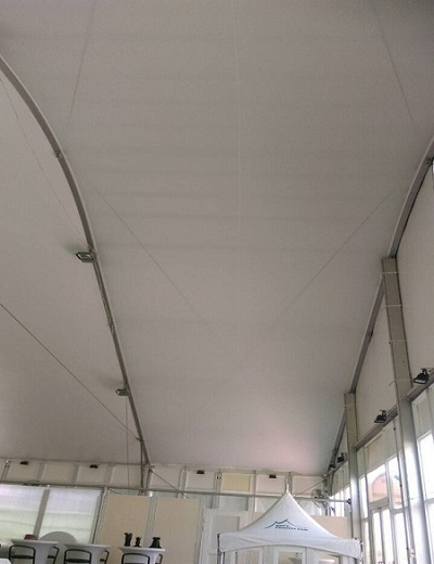 Ceiling upholstery - Ceiling upholstery for structure tent