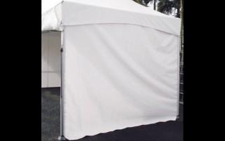 Parete laterale solida della tenda