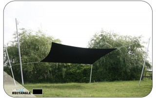 3M x 4M  Rectangular Sail Shade - UV protection awning