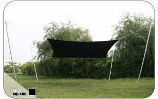 3.5M x 3.5M Square  Sail Shade - UV protection awning