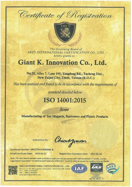 ARES ISO 14001 2015 Giant K.