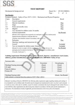 تقرير اختبار EN-71 (1-2)