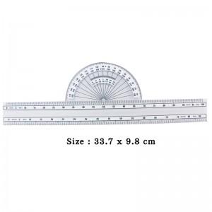 直尺+半圓兩用尺