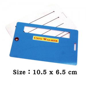 Plastic Double Luggage Tag with writing window