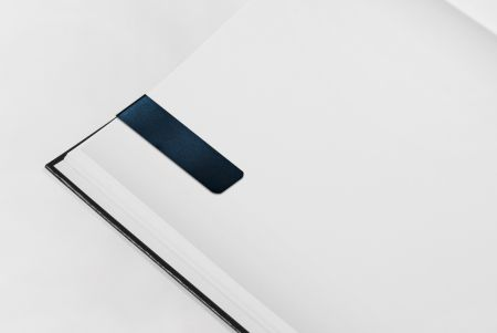 Black PVC Magnetic Bookmark