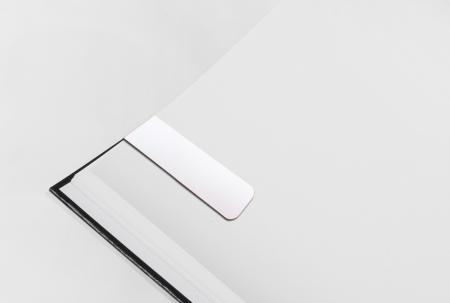 Silver PVC Magnetic Bookmark