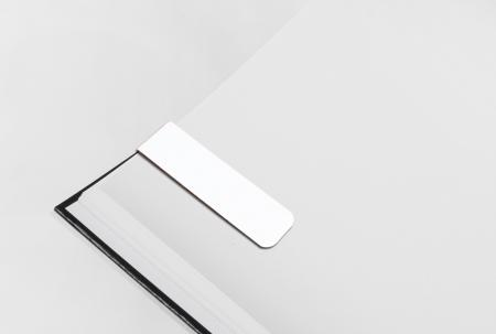 White PVC Magnetic Bookmark