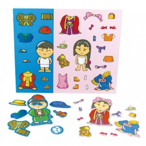 Magnetic Dress up Doll Game