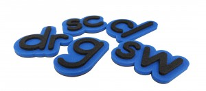 3D الأبجدية رسائل المغناطيس