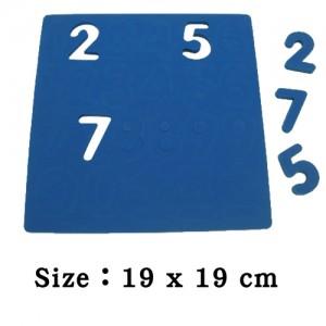 EVA數字123泡棉安全磁鐵(素色)