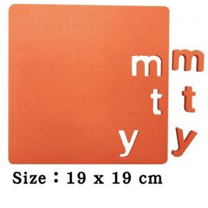 EVA數字英文abc泡棉安全磁鐵(素色)