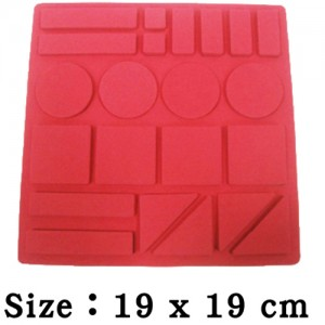 EVA幾何圖形泡棉安全磁鐵(素色)