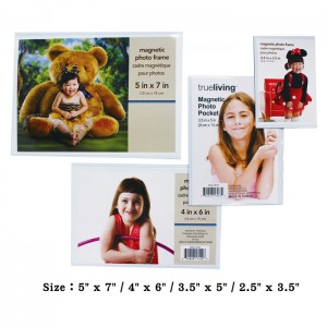 Magnetic PVC Photo Frame Set