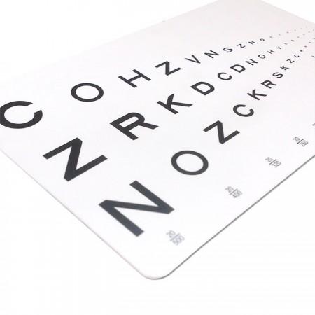Eye Chart Card