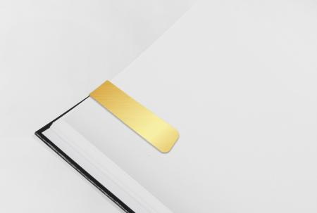 Gold PVC Magnetic Bookmark