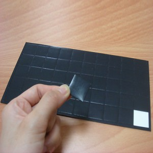 Shaped Adhesive Magnet