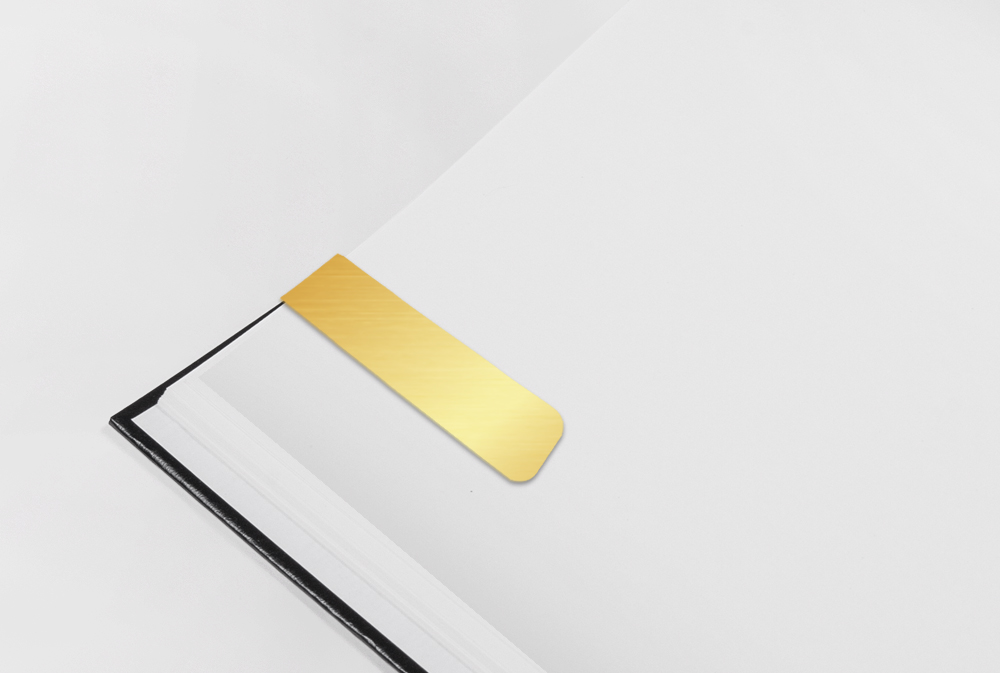 Gold PVC Magnetic Bookmark -  MG-B07-G