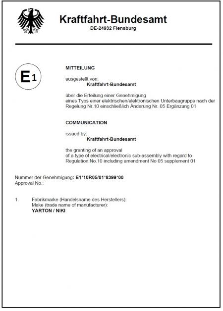 Certificaat - . E-teken (68X 10R)