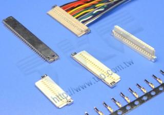"""1.00mm(.039"""") 间距-10H1 线对板连接器 - 线对板"""